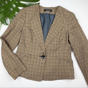 Kasper Tweed Blazer Jacket 8